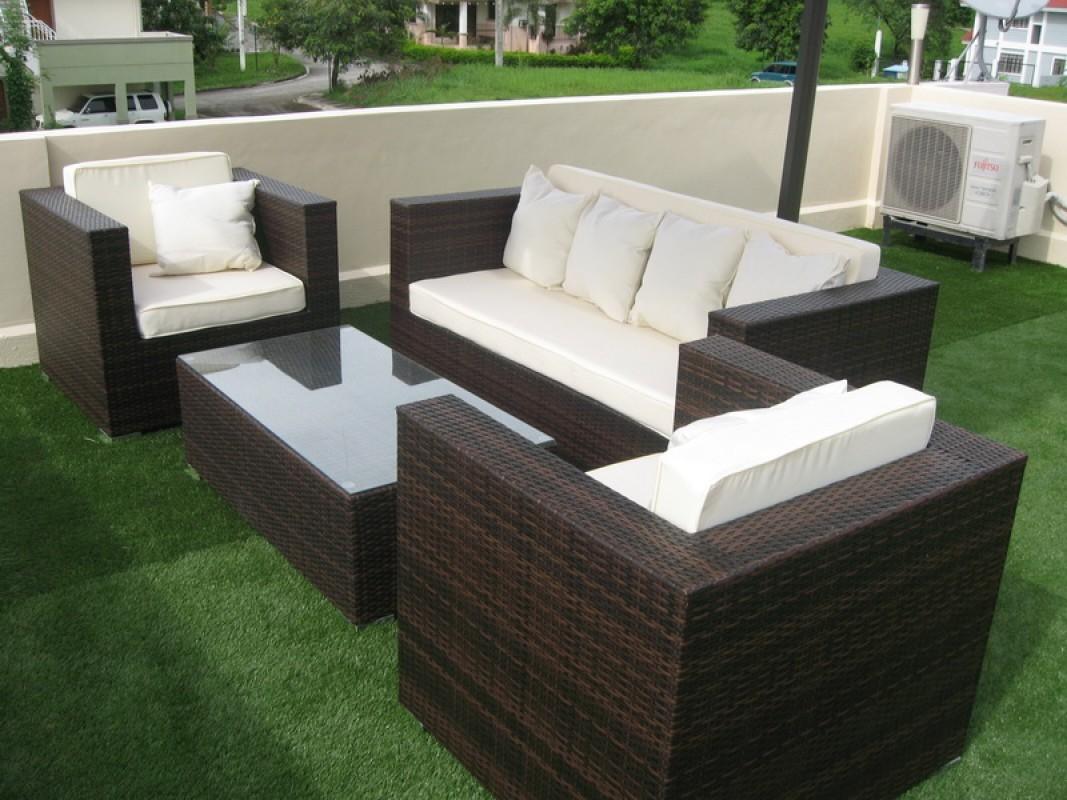 Použitie umelej trávy na terase